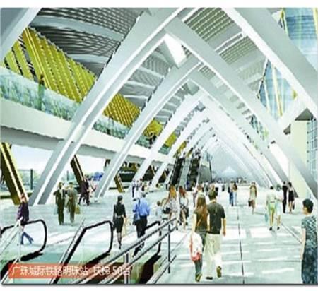 广珠城际铁路明珠站扶梯50台